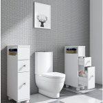 EASE Mueble de baño con Ruedas con 2 cajones Carro de Almacenamiento